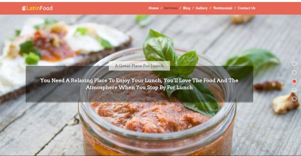 Latin Food – CSS Integrated WordPress Theme
