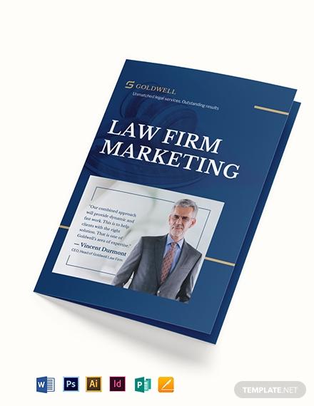 law firm marketing bi fold brochure template 1