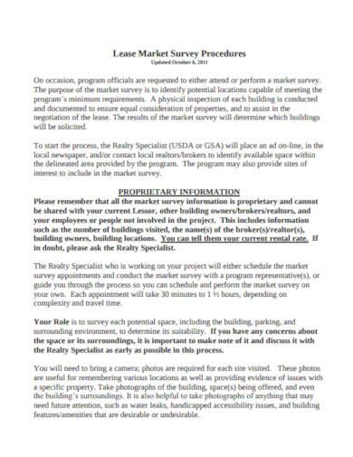 lease market survey example