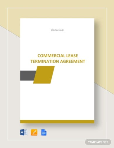 lease termination tenant agreement template