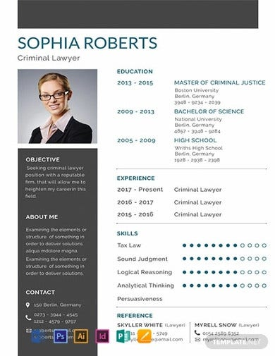 legal resume template for criminal lawyer1
