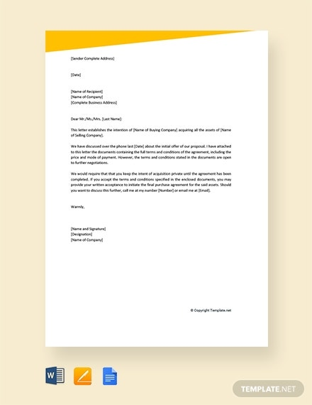 letter of intent to purchase business1