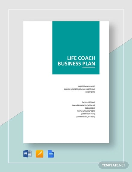 life coach business plan template