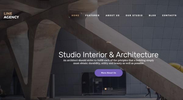 line agency parallax wordpress theme