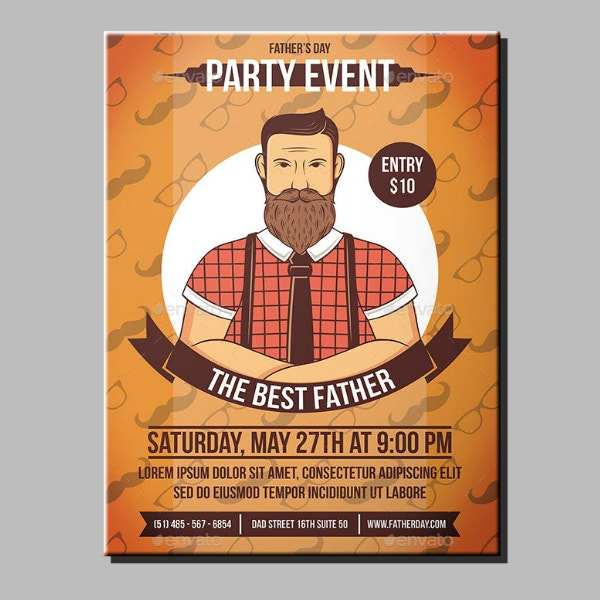 lumberjack fathers day party flyer