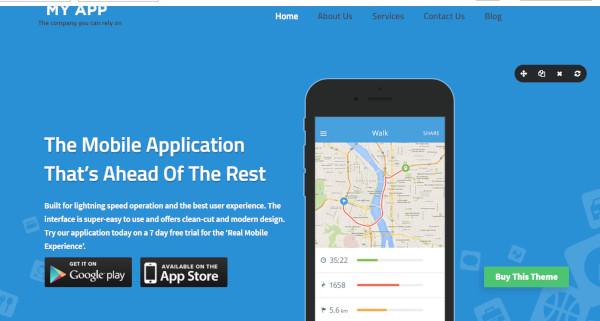 MYAPP - ecommerce integrated WordPress Theme