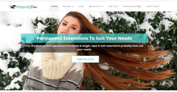 magical hair html css valided wordpress theme