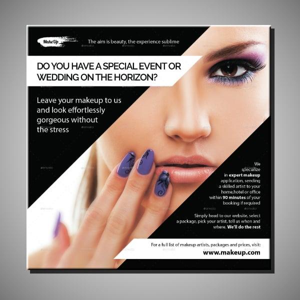 Makeup Service Marketing Leaflet Format