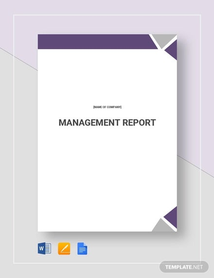 management report template