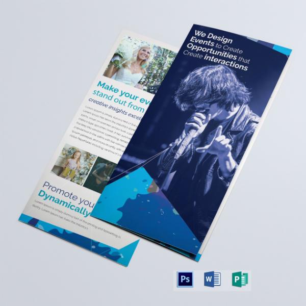 managing event tri fold brochure layout