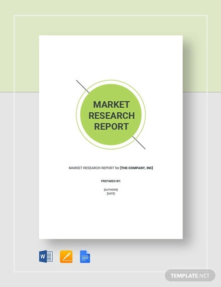 market research report template1
