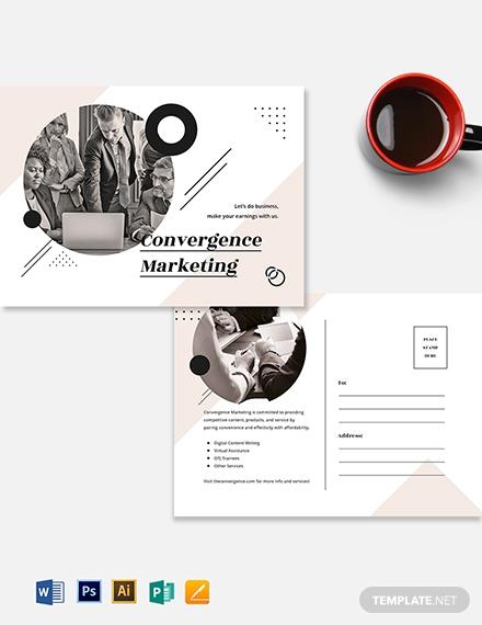 marketing agency postcard template