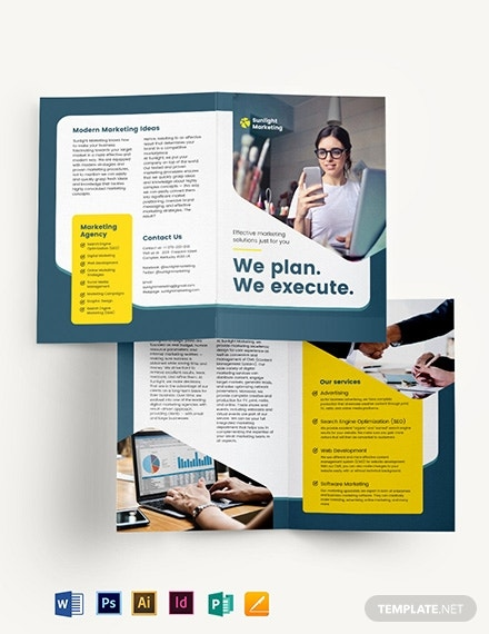 marketing bi fold brochure template 1