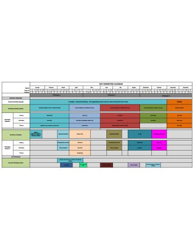 marketing calendar example
