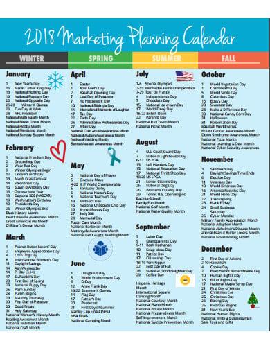 marketing calendar planning format