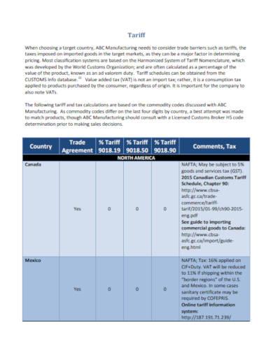 marketing plan schedule in pdf