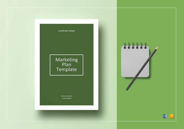 marketing plan template mockups
