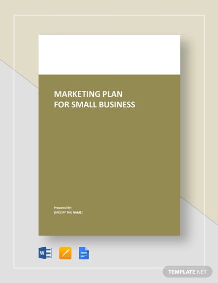 marketing plan for small business template2