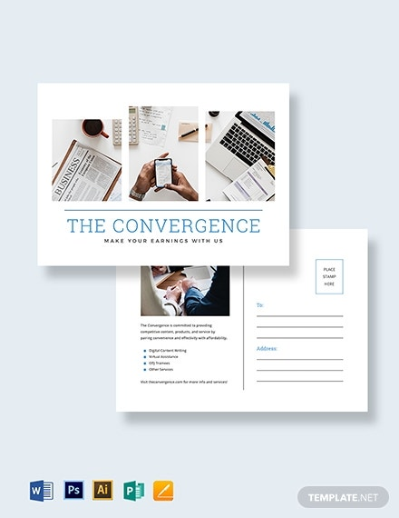 marketing postcard template 1