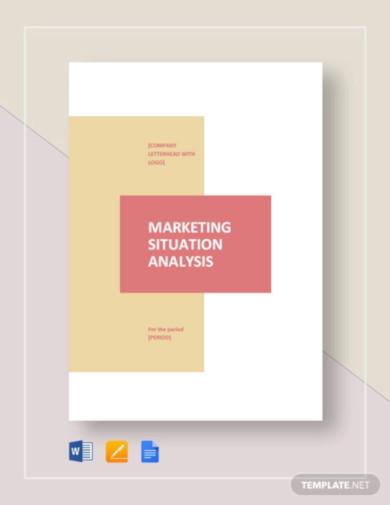 marketing situation analysis template