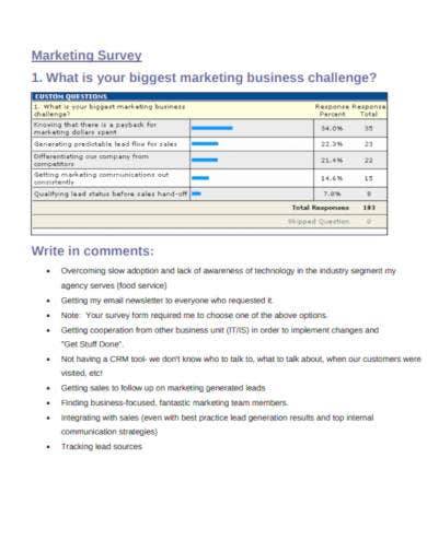 marketing survey template in pdf