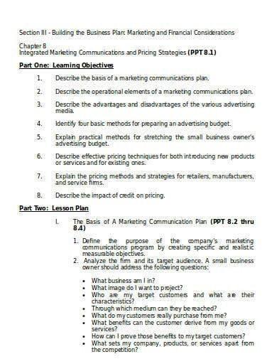 marketing and finance business plan