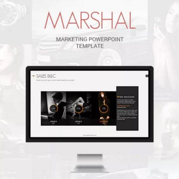 marshal marketing powerpoint presentation template