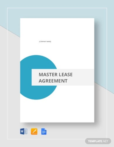 master lease tenant agreement template