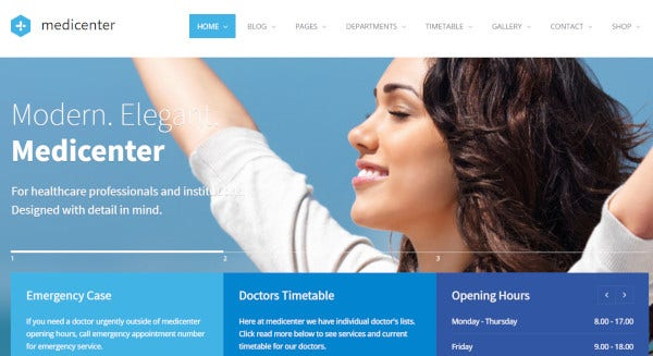medicentre page builder wordpress theme