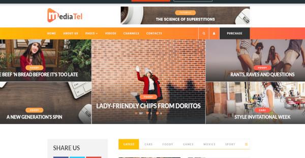 mediatel – bootstrap framework wordpress theme