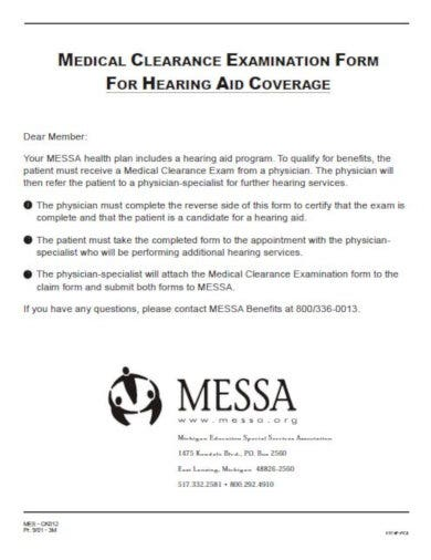 medical clearance letter for insurance coverage