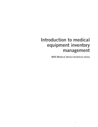 medical equipment inventory template