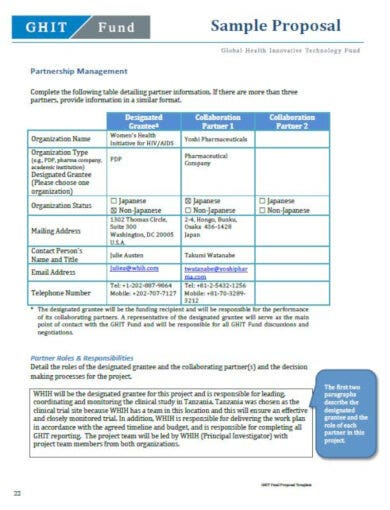 medical fund sample proposal