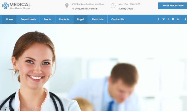 medical mobile compatibility wordpress theme