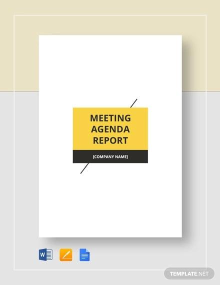 meeting agenda report template