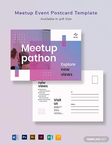 meetup event postcard template