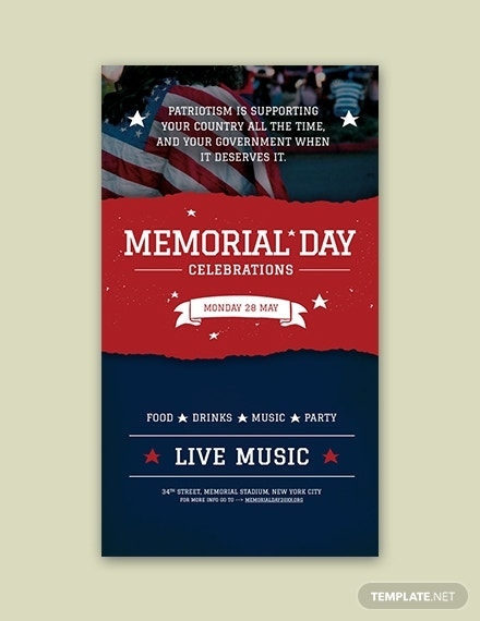 memorial day snapchat geofilter template