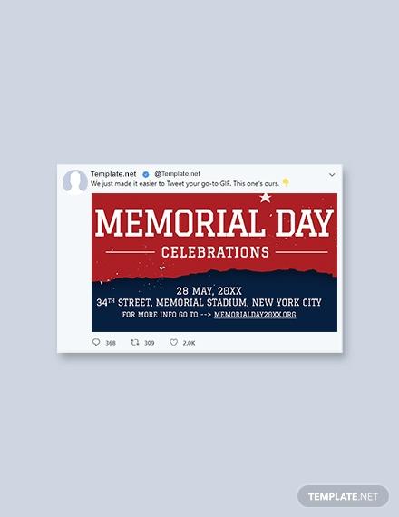 memorial day twitter post template