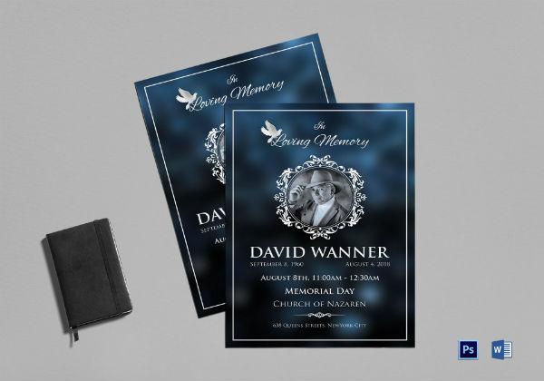 memorial funeral program templatesample