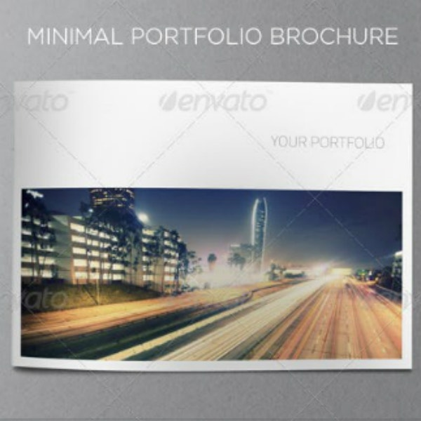 minimal business portfolio brochure template