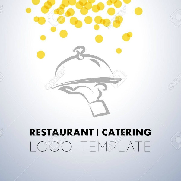 minimal catering restaurant logo template