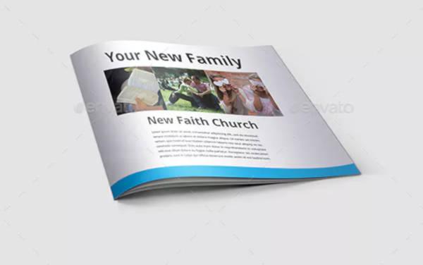 minimal church brochure template