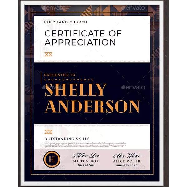 minimal-church-certificate-template
