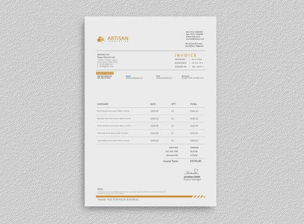 10 Creative Invoice Templates Ai Excel Word Numbers