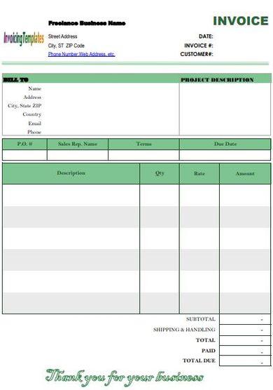 minimalist freelance invoice template