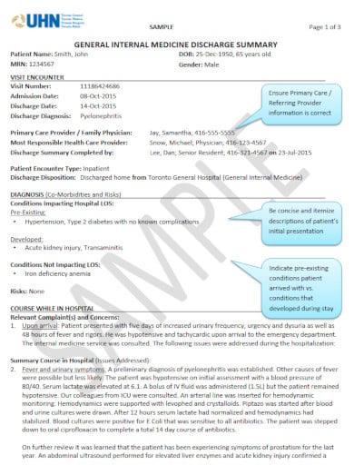 minimalist medical summary report template