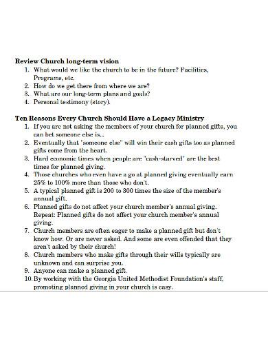 ministry church presentation