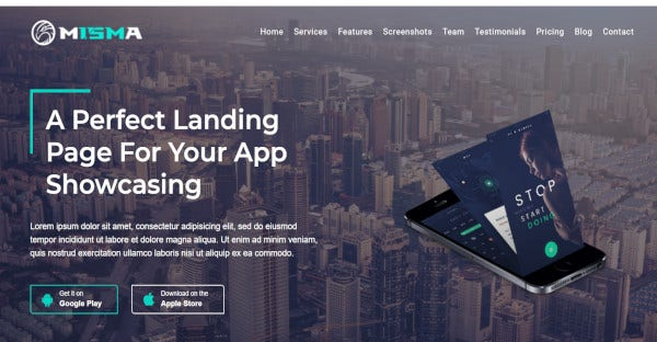 Misma - mobile friendly WordPress Theme