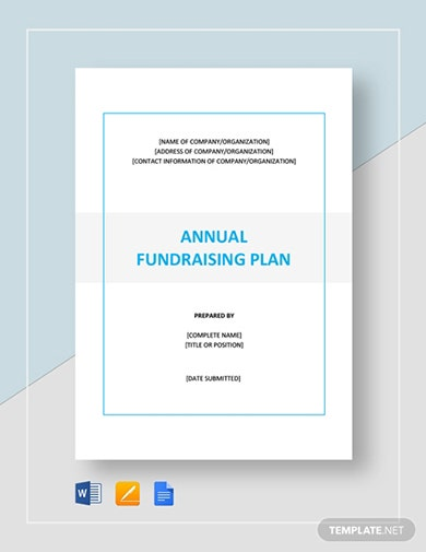 modern annual fundraising proposal template