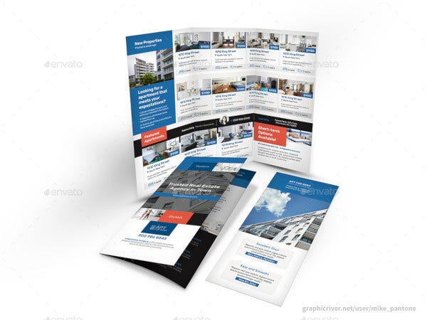 modern apartment brochure template